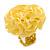Bright Yellow Silk & Glass Bead Floral Flex Ring - 40mm Diameter