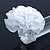 White Silk & Glass Bead Floral Flex Ring - 40mm Diameter