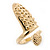 Gold Plated Textured Snake Nail Ring - view 8