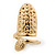 Gold Plated Textured Snake Nail Ring - view 6