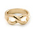 Gold Plated Infinity Knuckle Ring - view 1