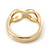 Gold Plated Infinity Knuckle Ring - view 7