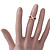 Gold Plated Infinity Knuckle Ring - view 6
