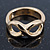 Gold Plated Infinity Knuckle Ring - view 2