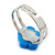 Children's/ Teen's / Kid's Blue Fimo Flower Ring In Silver Tone - Adjustable - view 3