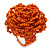 Orange Glass Bead Flower Stretch Ring - 40mm Diameter