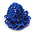 Blue Glass Bead Flower Stretch Ring - 40mm Diameter - view 3