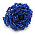 Blue Glass Bead Flower Stretch Ring - 40mm Diameter - view 7