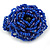 Blue Glass Bead Flower Stretch Ring - 40mm Diameter - view 5