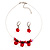 Stunning Hot Red Bead Set - view 2