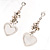 Rhodium Plated Mesh Heart Set - view 4