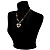 Black Glass Heart Fashion Necklace & Earrings - view 7