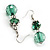 Green Glass Floral Fashion Set (Necklace & Earrings) - view 6
