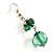 Green Glass Floral Fashion Set (Necklace & Earrings) - view 12
