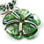 Green Glass Floral Fashion Set (Necklace & Earrings) - view 14