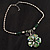 Green Glass Floral Fashion Set (Necklace & Earrings) - view 17
