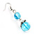 Blue Glass Bead Leaf Pendant & Earring Fashion Set - view 8