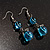 Blue Glass Bead Leaf Pendant & Earring Fashion Set - view 11