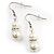 White Classic Glass Pearl Necklace & Drop Earring Set - view 10