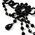 Black Gothic Costume Choker Necklace And Earring Set - view 6