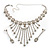 Treasured Heirloom Bib Necklace And Drop Earring Set (Silver Tone) - view 14