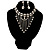 Treasured Heirloom Bib Necklace And Drop Earring Set (Silver Tone) - view 2