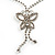 Clear Swarovski Crystal Butterfly Necklace And Earring Set (Silver Tone) - view 6