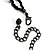 Victorian/ Gothic/ Burlesque Black Bead Choker And Earrings Set - view 5