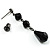 Victorian/ Gothic/ Burlesque Black Bead Choker And Earrings Set - view 10