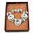 Ethnic Disc Necklace & Drop Earrings Set (Antique Silver) - view 2