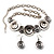Ethnic Disc Necklace & Drop Earrings Set (Antique Silver) - view 13