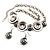 Ethnic Disc Necklace & Drop Earrings Set (Antique Silver) - view 14