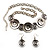 Ethnic Disc Necklace & Drop Earrings Set (Antique Silver) - view 7