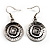 Ethnic Disc Necklace & Drop Earrings Set (Antique Silver) - view 6