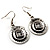 Ethnic Disc Necklace & Drop Earrings Set (Antique Silver) - view 15