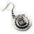 Ethnic Disc Necklace & Drop Earrings Set (Antique Silver) - view 12