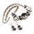 Ethnic Disc Necklace & Drop Earrings Set (Antique Silver) - view 11