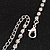 Bridal Swarovski Crystal Flower Tassel Necklace & Earrings Set In Rhodium Plated Metal - view 13