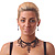 Black Gothic Costume Choker Necklace And Earring Set - view 2