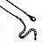 Romantic Faux Pearl 'Butterfly' Necklace & Drop Earrings Set In Black Metal - view 8