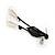 Black Mesh Floral Faux Pearl Necklace & Drop Earrings Set - view 9