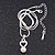 Delicate Faux Pearl Diamante 'Heart' Pendant Necklace & Stud Earrings Set In Silver Plating - view 6