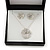 Clear Austrian Crystal Flower Pendant With Silver Tone Chain and Stud Earrings Set - 46cm L/ 5cm Ext - Gift Boxed - view 3