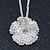 Clear Austrian Crystal Flower Pendant With Silver Tone Chain and Stud Earrings Set - 46cm L/ 5cm Ext - Gift Boxed - view 10