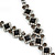 Bridal/ Prom/ Wedding Black/ Grey/ Clear Crystal V-shape Necklace, Bracelet and Drop Earrings Set In Black Tone - Necklace 34cm L/ 12cm Ext, Bracelet - view 5
