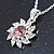 Clear/ Purple Austrian Crystal Flower Pendant With Silver Tone Chain and Stud Earrings Set - 40cm L/ 5cm Ext - Gift Boxed - view 12