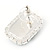 Black/ Clear Crystal Square Pendant with Silver Tone Chain and Stud Earrings Set - 44cm L/ 5cm Ext - view 4