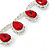 Bridal/ Wedding/ Prom Siam Red/ Clear Austrian Crystal Necklace And Drop Earrings Set In Silver Tone - 36cm L/ 11cm Ext - view 3