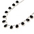 Bridal/ Wedding/ Prom Jet Black/ Clear Austrian Crystal Necklace And Drop Earrings Set In Silver Tone - 36cm L/ 11cm Ext - view 9