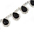 Bridal/ Wedding/ Prom Jet Black/ Clear Austrian Crystal Necklace And Drop Earrings Set In Silver Tone - 36cm L/ 11cm Ext - view 4